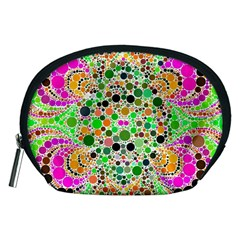 Florescent Abstract  Accessory Pouch (medium)