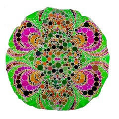 Florescent Abstract  Large Flano Round Cushion