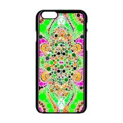 Florescent Abstract  Apple iPhone 6 Black Enamel Case