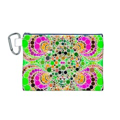 Florescent Abstract  Canvas Cosmetic Bag (Medium)