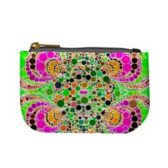 Florescent Abstract  Coin Change Purse