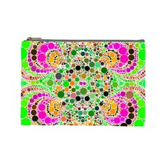 Florescent Abstract  Cosmetic Bag (large)