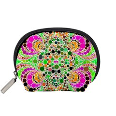 Florescent Abstract  Accessory Pouch (Small)
