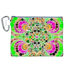 Florescent Abstract  Canvas Cosmetic Bag (xl)