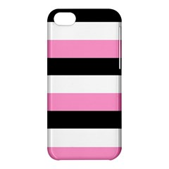 Black, Pink And White Stripes  By Celeste Khoncepts Com 20x28 Apple Iphone 5c Hardshell Case
