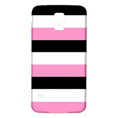 Black, Pink And White Stripes  By Celeste Khoncepts Com 20x28 Samsung Galaxy S5 Back Case (white)