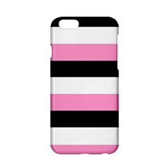 Black, Pink And White Stripes  By Celeste Khoncepts Com 20x28 Apple iPhone 6 Hardshell Case