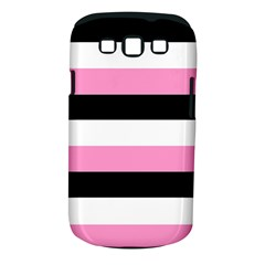 Black, Pink And White Stripes By Celeste Khoncepts Com Samsung Galaxy S Iii Classic Hardshell Case (pc+silicone)