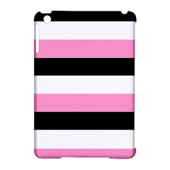 Black, Pink and White Stripes by celeste@khoncepts.com Apple iPad Mini Hardshell Case (Compatible with Smart Cover)