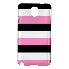 Black, Pink And White Stripes  By Celeste Khoncepts Com 20x28 Samsung Galaxy Note 3 N9005 Hardshell Case