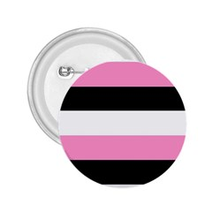 Black, Pink And White Stripes  By Celeste Khoncepts Com 20x28 2 25  Button