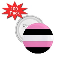 Black, Pink And White Stripes  By Celeste Khoncepts Com 20x28 1 75  Button (100 Pack)