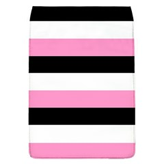 Black, Pink And White Stripes  By Celeste Khoncepts Com 20x28 Removable Flap Cover (large)