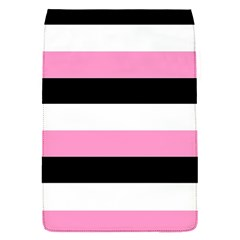 Black, Pink And White Stripes  By Celeste Khoncepts Com 20x28 Removable Flap Cover (small)