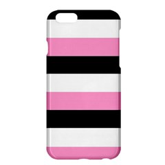 Black, Pink And White Stripes  By Celeste Khoncepts Com 20x28 Apple Iphone 6 Plus Hardshell Case