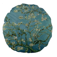 Vincent Van Gogh, Almond Blossom Large Flano Round Cushion