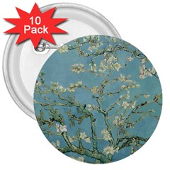 Vincent Van Gogh, Almond Blossom 3  Button (10 Pack)