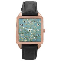 Vincent Van Gogh, Almond Blossom Rose Gold Leather Watch