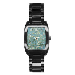 Vincent Van Gogh, Almond Blossom Stainless Steel Barrel Watch