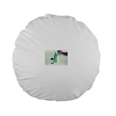Dirty $prite Standard Flano Round Cushion