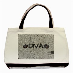 Sassy Diva  Twin-sided Black Tote Bag