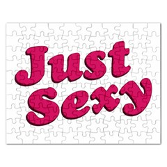 Just Sexy Typographic Quote002 Jigsaw Puzzle (rectangle)