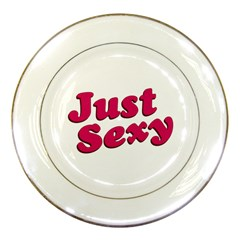 Just Sexy Typographic Quote002 Porcelain Display Plate
