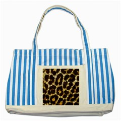 Cheetah Abstract  Blue Striped Tote Bag