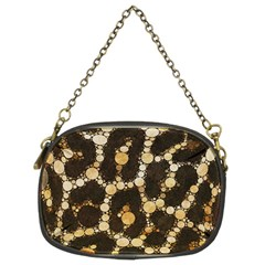 Cheetah Abstract  Chain Purse (two Sided)