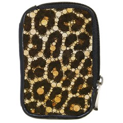 Cheetah Abstract  Compact Camera Leather Case