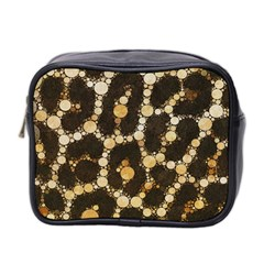 Cheetah Abstract  Mini Travel Toiletry Bag (two Sides)