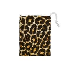 Cheetah Abstract  Drawstring Pouch (small)