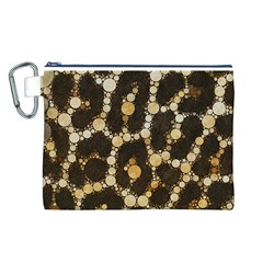 Cheetah Abstract  Canvas Cosmetic Bag (Large)