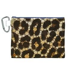Cheetah Abstract  Canvas Cosmetic Bag (XL)