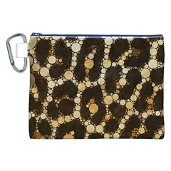 Cheetah Abstract  Canvas Cosmetic Bag (XXL)