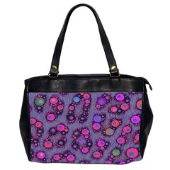 Florescent Cheetah Oversize Office Handbag (two Sides)