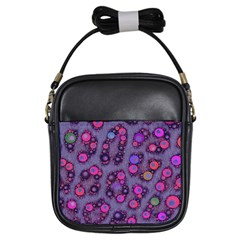 Florescent Cheetah Girl s Sling Bag