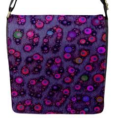 Florescent Cheetah Flap Closure Messenger Bag (small)