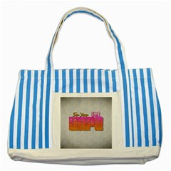 Vape For Your Life Abstract  Blue Striped Tote Bag