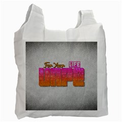 Vape For Your Life Abstract  White Reusable Bag (one Side)