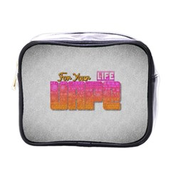 Vape For Your Life Abstract  Mini Travel Toiletry Bag (one Side)
