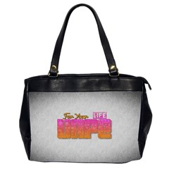 Vape For Your Life Abstract  Oversize Office Handbag (two Sides)