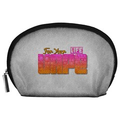 Vape For Your Life Abstract  Accessory Pouch (Large)