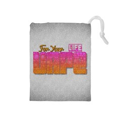 Vape For Your Life Abstract  Drawstring Pouch (Medium)