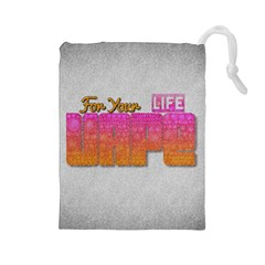 Vape For Your Life Abstract  Drawstring Pouch (Large)