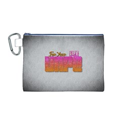 Vape For Your Life Abstract  Canvas Cosmetic Bag (Medium)