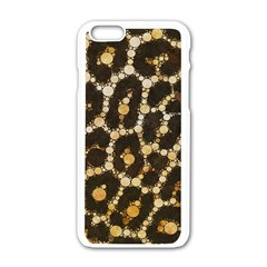 Cheetah Abstract  Apple iPhone 6 White Enamel Case