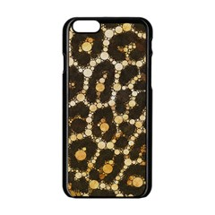 Cheetah Abstract  Apple Iphone 6 Black Enamel Case