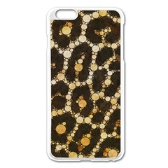 Cheetah Abstract  Apple iPhone 6 Plus Enamel White Case