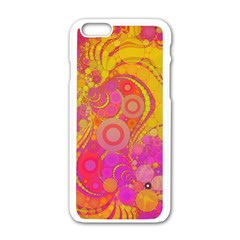 Super Bright Abstract Apple iPhone 6 White Enamel Case